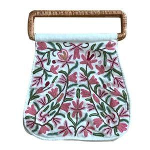Vintage Floral Embroidered Bag/Purse